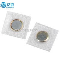 PVC/TPU Hidden Magnets for Clothing, Button Magnet with Metal Cover