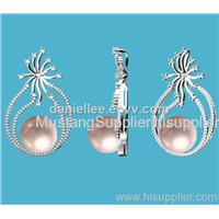 2018 New Design Hot Selling Your DIY Pearl Silver Earing