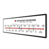 38.5 Inch Indoor Ultra Wide LCD Screen Bar for Advertising on Metro Station