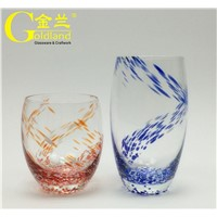 Colored Drinking Glasses Water Tumbler Beverage Glasses