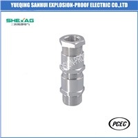 Double Compression Unarmored Increased Safety Metal Cable Gland IP66