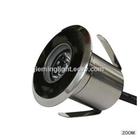 2018 Mini 1W CE RoHS Dc12v 85-265V Dc24v Recessed Lighting LED Spot Floor Garden Yard LED Underground Light