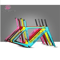 Rolling Stone Compass Road Carbon Frame with FORK, Seat Post Headsets 45cm 47cm 50cm c-t 1030g