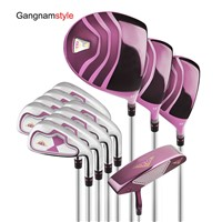 Gangnamstyle Woman's Complete Golf Clubs Set with Golf Bag & Headcover (12 Pieces, Purple)