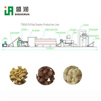 Automatic Corn Puffed Snack Food Processing Line