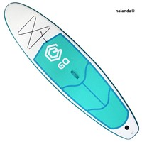 "NALANDA Inflatable Stand up Paddle Board 9'6"" SUP with Paddle, Pump, Repair Kit, Backpack for Surfing, Water Yoga"
