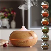 Best Selling Wooden Style Aroma Diffuser Cool Mist Humidifier LED Light Changing