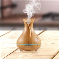 Vase Shaped Aromatherapy 400mL Ultrasonic Cool Mist Aroma Diffuser Humidifier Waterless Auto Shut-off