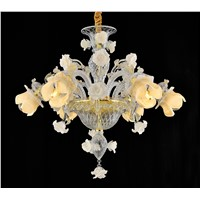 (YHD6002-6) Rose Chandelier, Italian Style Handmade Glass Chandelier