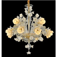 (YHD6002-8+4) Rose Chandelier, Italian Style Handmade Glass Chandelier