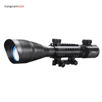 Gangnamstyle Rifle Scope 4-12x50 Mil-Dot Telescopic Sight with Red Green Illuminated Cross-Hair