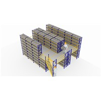 Power Coating Multi Tier Racking System Multilayer Racks