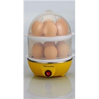 Electric Egg Cooker Egg Boiler Poacher Maker Steamer Double Layer for 14 Capacity with Auto Shut off