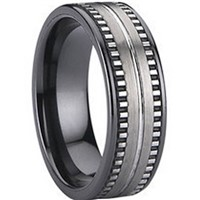 Tungsten Carbide Ring with Ceramic