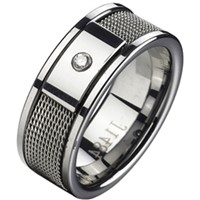 Tungsten Carbide Ring With Cubic Zirconia