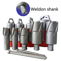 HSS Annular Cutter with Weldon Shank Metal Cutters 12-100mm, 7/16-4inch CNC Fully Ground M2, M35, M42, Shipping