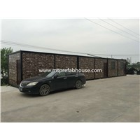 Steel Structure Insulated Expandable Container House with Cultural Stone Sandwich Panel