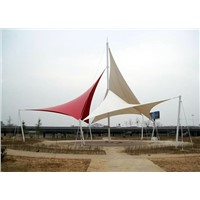 Beauty Square View Fabric Tensile Membrane Canopy-Furite