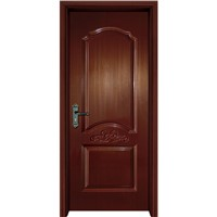 New Designpvc Film WPC Door Skin Coated WPC Door with Door