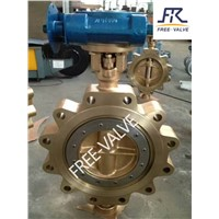 Copper Bronze Lug Butterfly Valve with Double Eccentric Offset