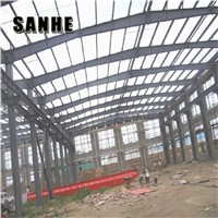 Metal Span Storage Portal Frame Light Steel Structure for Auto Industrial Workshop