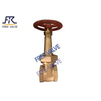 Threaded Bronze Gate Valve with Wheel Handle