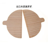 Custom Good Quality Natural Eco-Friendly Safety Pine Wood Pizza Peel Semicircle Pizza Peel
