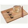 Hot Sell Eco-Friendly Safety Nature Handmade Multi-Functional Rectangle Rubber Wood Serving Tray