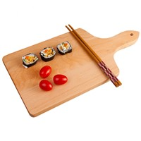 Hot Sell Eco-Friendly Beech Wood Kitchen Rectangular Dinner Wooden Serving Tray Cutting Board