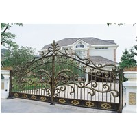 Chinese Factory Swing Gates EBG505 High Quality Wrought Iron Gate Competitive Price Iron Gates Customize Security Gate
