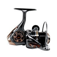 DEUKIO Fishing Reel High-Speed 5+1BB 6.7:1 Metal Shallow Deep Spool EVA Handle Saltwater Carp Fishing Wheel HS5000