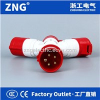 Multifunctional Industrial Plug & Socket 3-Way Splitter 32A5P