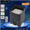 RGBW 4in1 or 6in1 LED DMX Freedom Battery PAR Light, Wireless Operated Power PAR Can Light