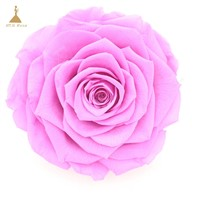 Grade A Real Touch Wedding Flowers with Glitter Colors Preserved Roses