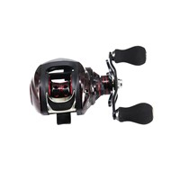 DEUKIO TT102-Right Hand Bait Casting Fishing Reel 13+1BB 6.3:1 High Speed Metal Spoon Magnetic Brake System