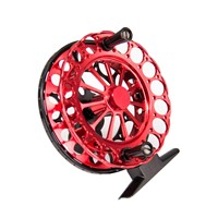 F80 Portable Fly Fishing Reel Mini Size Ice Fishing Tackle Large Arbor 2BB Machined Aluminum Ultralight Fly Wheel