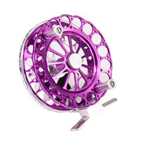 F90 Portable Fly Fishing Reel Mini Size Ice Fishing Tackle Large Arbor 2BB Machined Aluminum Ultralight Fly Wheel