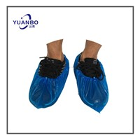 Disposable Machine Made PE CPE Blue Safety Shoe Cover