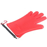 DEUKIO Red Anti-Slip Fishing Gloves Rubber Fish Catching Glove Hand Protection Fishing Gear Tackle Unisex Full Finger