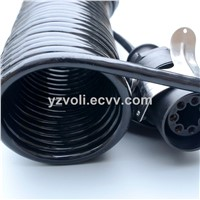 ABS Power Cable Truck Trailer Coil Sprial Cable