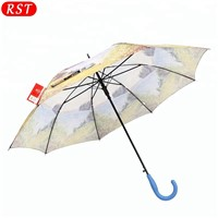 RST Real Star Windproof Automatic Straight Umbrella Rubber Coated Handle Sunbrella Umbrella