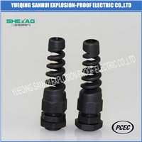 Plastic Black Strain Relief Cable Gland Vo