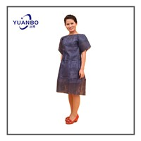 Nonwoven PP Dark Blue Hospital Gown