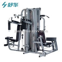 Multi-Functional Gym Equipment, Five-Person Station Fitness Machine, Integrated Fitness Machine