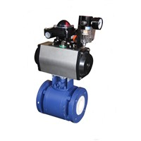 WCB Pneumatic Ceramic Lined Ball Valve