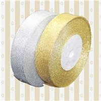 Christmas Decorative Ribbon Gold Silver Ribbon Bow