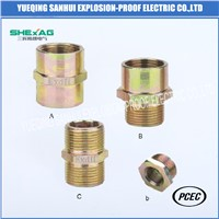 Explosion-Proof Pipe Fitting for Cable Glands