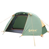 CNHIMALAYA HT9104G Outdoor Single Camping Tent Double Layers Aluminium Pole Waterproof Professional Tent - Green