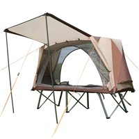 CNHIMALAYA HT9191 Outdoor Single Camping Bed Tent Double Layers Light Sun-Proof Rain-Proof Camping Tent Fishing Tents