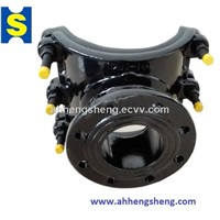 Pipe Tapping Saddle/ Tapping Saddle Clamp/ Pipe Tapping Fitting with Flange for Ductile Iron Pipes
